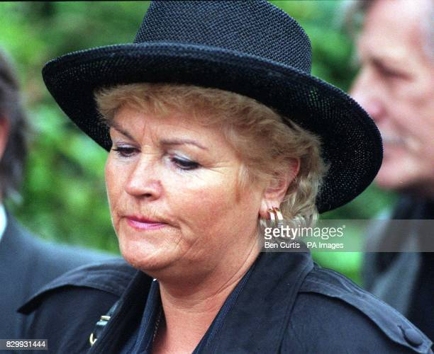 Actress Pam St Clement alias Pat Butcher in BBC's Eastenders at the funeral of the soap's creator Julia Smith at the Mortlake Cremetoriam in London...