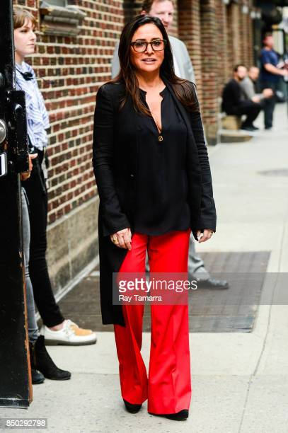 Actress Pamela Adlon enters the 'The Late Show With Stephen Colbert' taping at the Ed Sullivan Theater on September 20 2017 in New York City