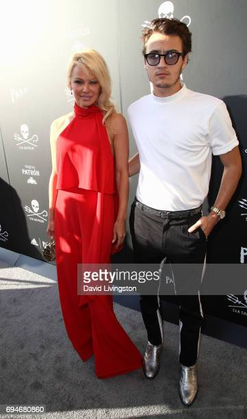 Actress Pamela Anderson and son Brandon Thomas Lee attend Shepherd Conservation Society's 40th Anniversary Gala For The Oceans at Montage Beverly...