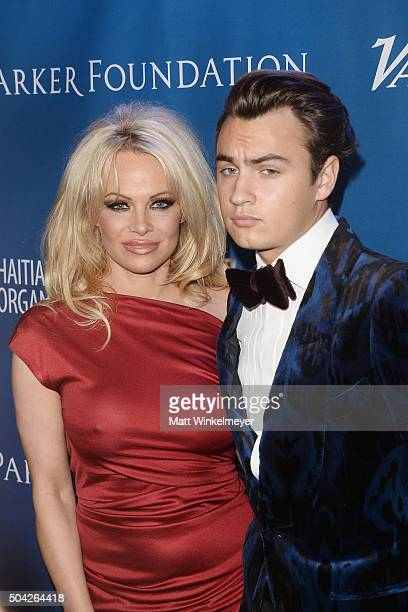 Actress Pamela Anderson arrives at the 5th Annual Sean Penn Friends HELP HAITI HOME Gala benefiting J/P Haitian Relief Organization at Montage Hotel...