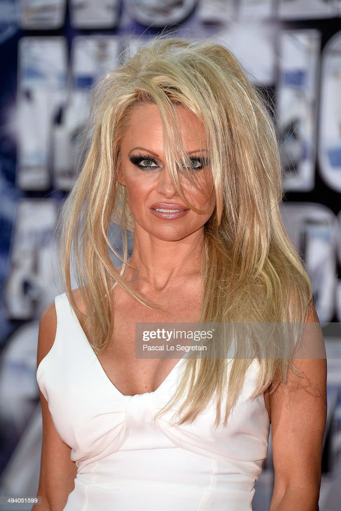 Actress Pamela Anderson arrives at the World Music Awards at Sporting Monte-Carlo on May 27, 2014 in Monte-Carlo, Monaco.
