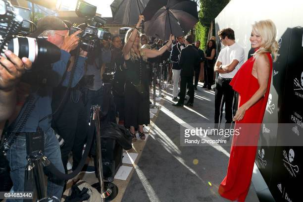 Actress Pamela Anderson arrives to Sea Shepherd's 40th Anniversary Gala for the Oceans at Montage Beverly Hills on June 10 2017 in Beverly Hills...