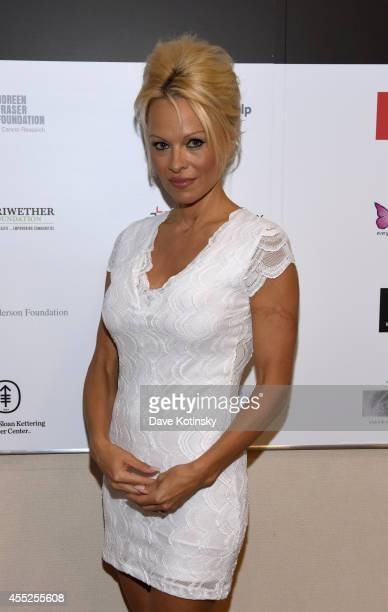 Actress Pamela Anderson attends Annual Charity Day Hosted by Cantor Fitzgerald and BGC at BGC Partners INC on September 11 2014 in New York City