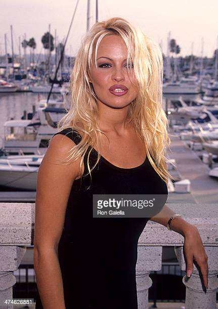 Actress Pamela Anderson attends 'Baywatch' 100th Anniversary Celebration on October 22 1994 at the RitzCarlton Hotel in Marina del Rey California