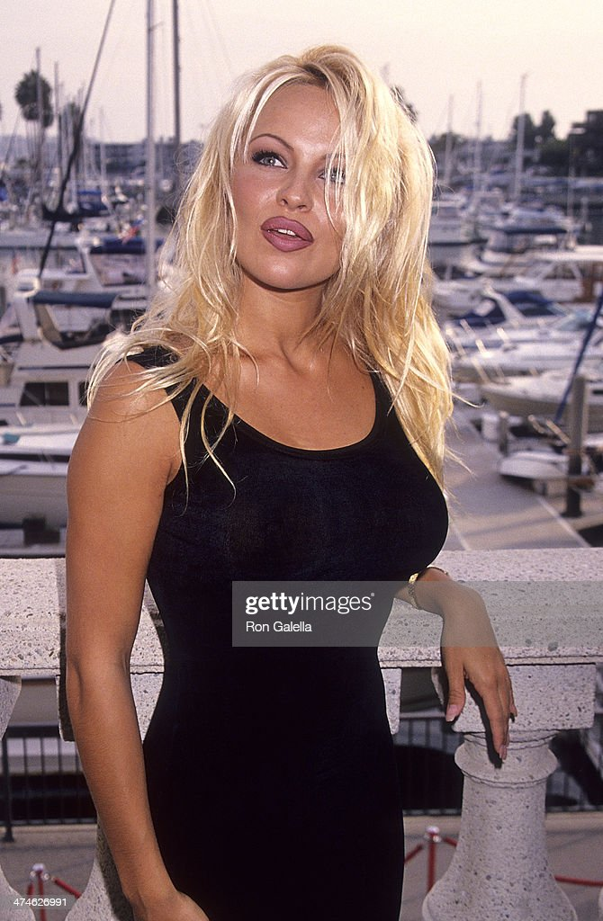Actress <a gi-track='captionPersonalityLinkClicked' href=/galleries/search?phrase=Pamela+Anderson&family=editorial&specificpeople=171759 ng-click='$event.stopPropagation()'>Pamela Anderson</a> attends 'Baywatch' 100th Anniversary Celebration on October 22, 1994 at the Ritz-Carlton Hotel in Marina del Rey, California.