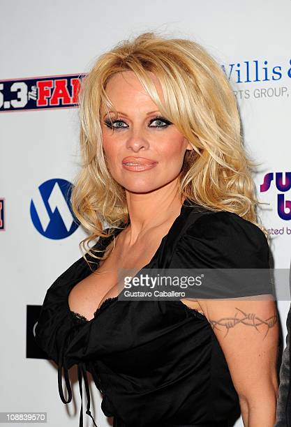 Actress Pamela Anderson attends Dallas SuperBash 2011 presented by Willis and Woy Sports Group held at the Fashion Industry Gallery on February 4...
