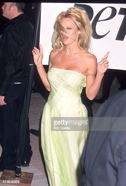 Actress Pamela Anderson attends PETA Honors the Animal Rights Movement on September 18 1999 at Paramount Pictures Studios in Hollywood California