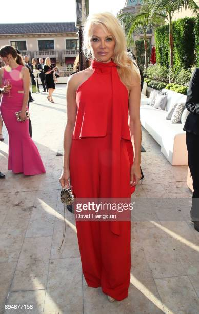 Actress Pamela Anderson attends Shepherd Conservation Society's 40th Anniversary Gala For The Oceans at Montage Beverly Hills on June 10 2017 in...