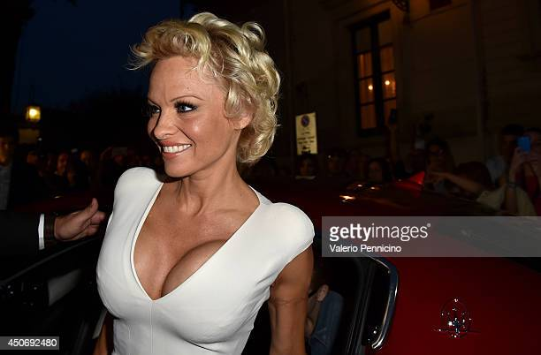 Actress Pamela Anderson attends the 60th Taormina Film Festival on June 15 2014 in Taormina Italy