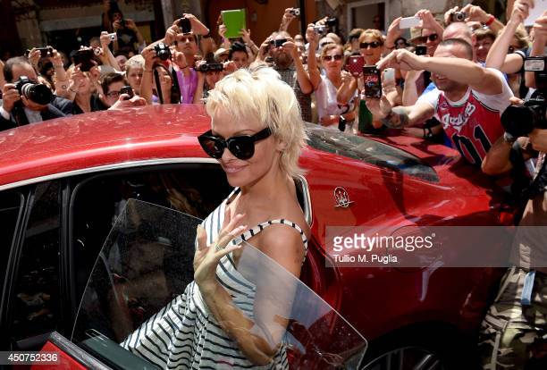 Actress Pamela Anderson attends the 60th Taormina Film Festival on June 17 2014 in Taormina Italy