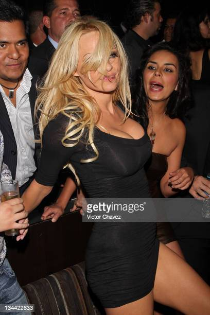 Actress Pamela Anderson attends the Christmas Playboy Mexico magazine party at the Ragga Antara Polanco on November 30 2011 in Mexico City Mexico