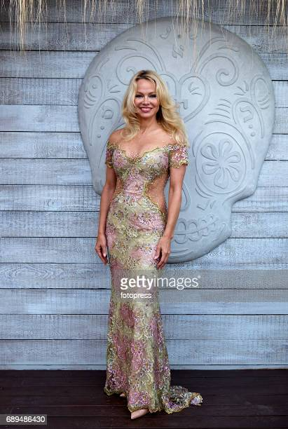Actress Pamela Anderson attends the official opening of new summer hot spot 'Playa Padre' in Cable Beach on May 27 2017 in Marbella Spain The...
