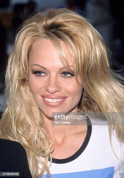 Actress Pamela Anderson attends the Party for Ingrid Newkirk's New Book 'You Can Save the Animals' on April 27 1999 at O2 in West Hollywood California