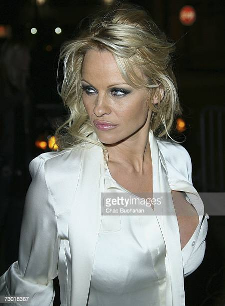 Actress Pamela Anderson attends the Playboy Legacy Collection launch event at Republic on January 16 2007 in Los Angeles California