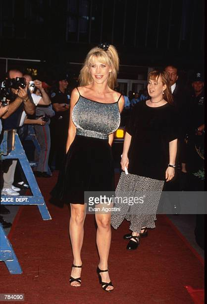 Actress Pandora Peaks attends the premiere of 'Striptease' at the Ziegfeld Theater June 23 1996 in New York City The film directed by Andrew Bergman...