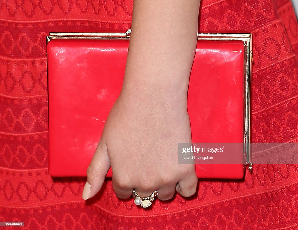 Actress Paola Andino (purse & ring detail) attends the 29th Annual Imagen Awards at the Beverly Hilton Hotel on August 1, 2014 in Beverly Hills, California.