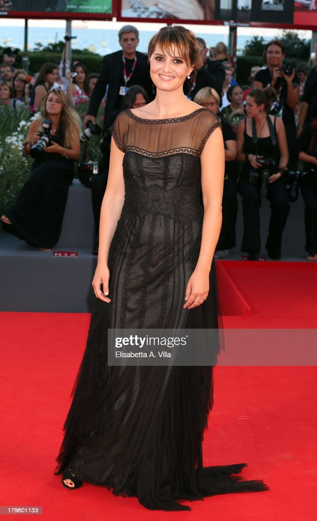 Actress Paola Cortellesi attends 'La Jalousie' Premiere during the 70th Venice International Film Festival at the Sala Grande on September 5, 2013 in Venice, Italy.