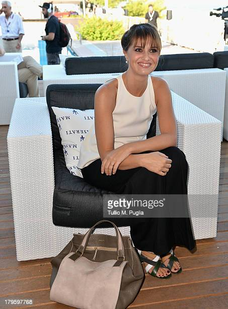 Actress Paola Cortellesi attends the 70th Venice International Film Festival at Terrazza Maserati on September 5 2013 in Venice Italy