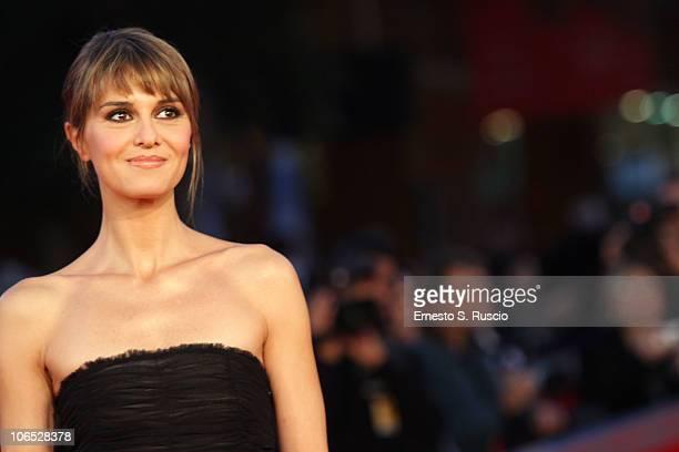 Actress Paola Cortellesi attends the 'Le Cose Che Restano' Premiere during the 5th International Rome Film Festival at the Auditorium Parco Della...