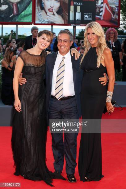 Actress Paola Cortellesi Mario Sesti and Tiziana Rocca attend 'La Jalousie' Premiere during the 70th Venice International Film Festival at the Sala...