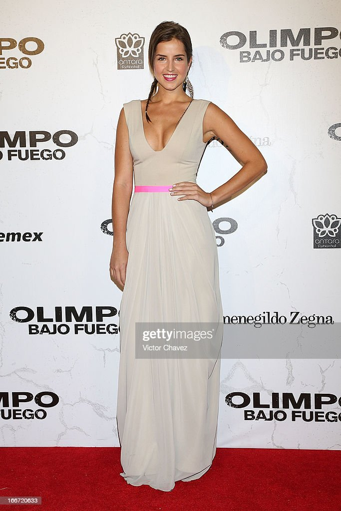 Actress Paola Galina attends the 'Olympus Has Fallen' Mexico City Premiere red carpet on April 12, 2013 in Mexico City, Mexico.