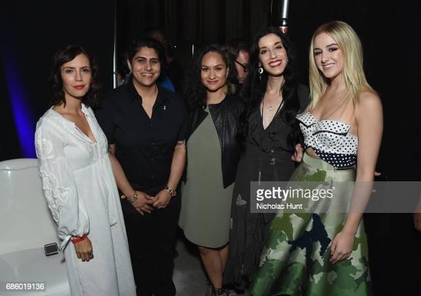 Actress Paola Mendoza CEO Founder of Beautycon Media Moj Mahdara Actress Carmen Perez Director Sarah Sophie Flicker and Television Personality Chloe...