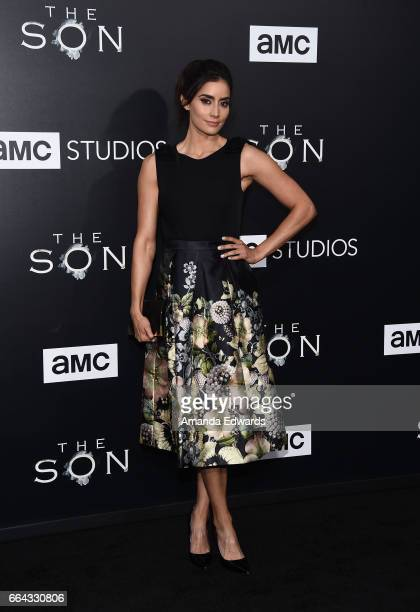 Actress Paola Nunez arrives at the premiere of AMC's 'The Son' at ArcLight Hollywood on April 3 2017 in Hollywood California