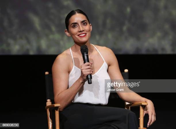 Actress Paola Nunez attends AMC's 'The Son' FYC Screening Panel Discussion on April 15 2017 in Los Angeles California