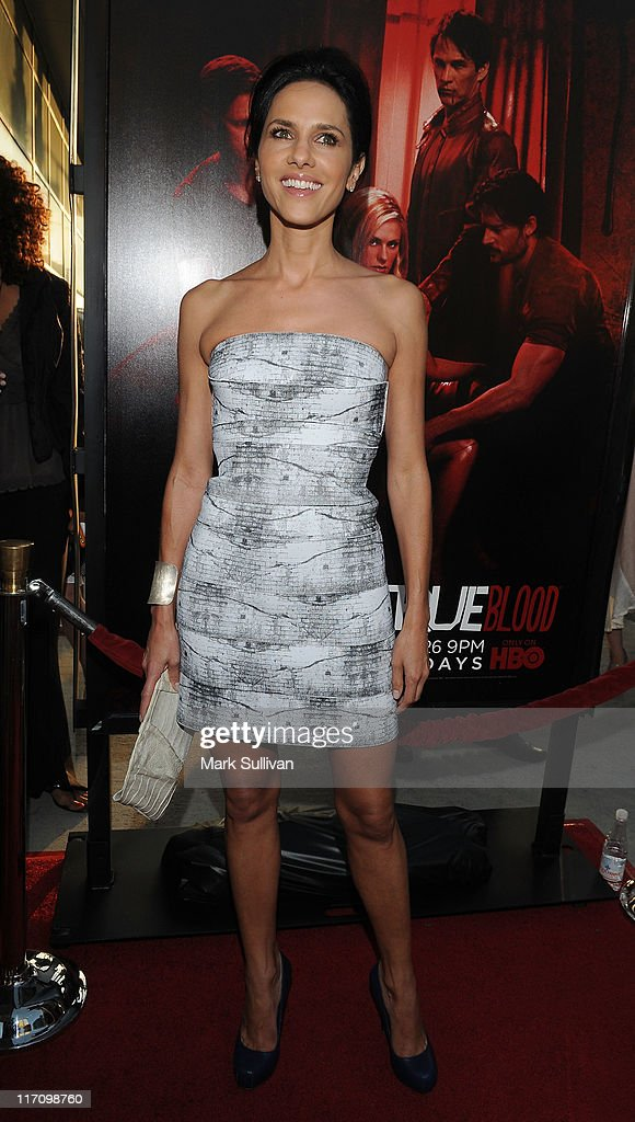 Actress Paola Turbay arrives on the red carpet for HBO's 'True Blood' season 4 premiere at The Dome at Arclight Hollywood on June 21, 2011 in Hollywood, California.