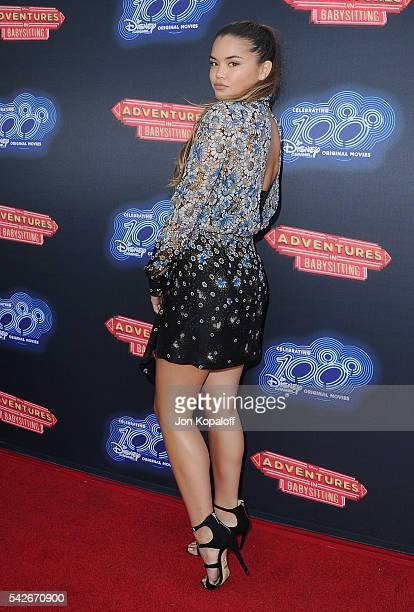 Actress Paris Berelc arrives at the Premiere Of 100th Disney Channel Original Movie 'Adventures In Babysitting' And Celebration Of All DCOMS at...