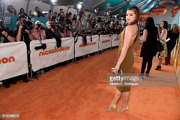 Actress Paris Berelc attends Nickelodeon's 2016 Kids' Choice Awards at The Forum on March 12 2016 in Inglewood California