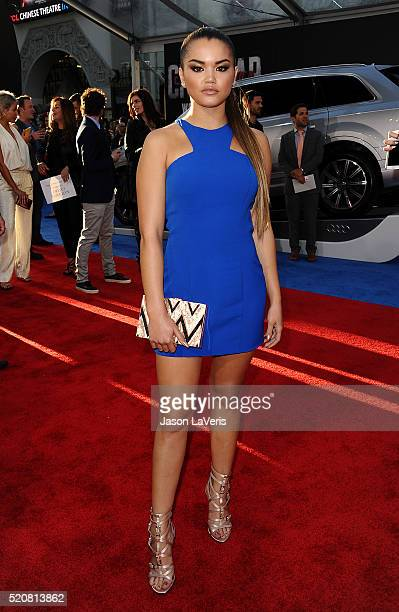 Actress Paris Berelc attends the premiere of 'Captain America Civil War' at Dolby Theatre on April 12 2016 in Hollywood California