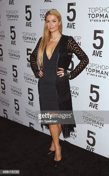 Actress Paris Hilton attends the Topshop Topman New York City Flagship Opening Dinner at Grand Central Terminal on November 4 2014 in New York City