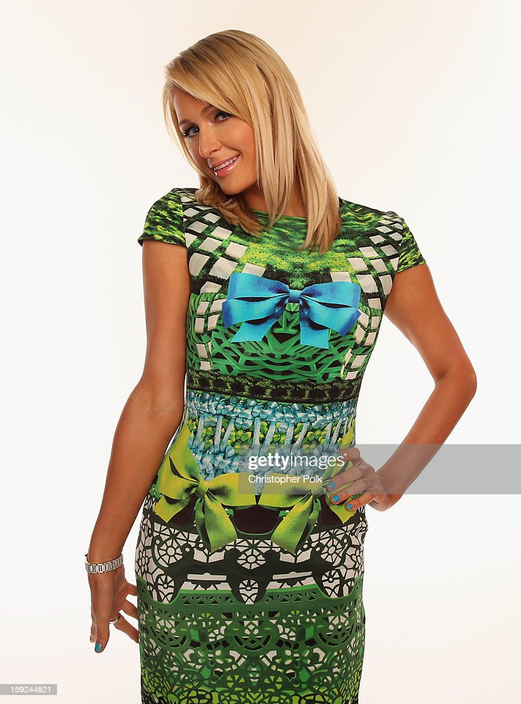 Actress Paris Hilton poses for a portrait during the 39th Annual People's Choice Awards at Nokia Theatre L.A. Live on January 9, 2013 in Los Angeles, California.