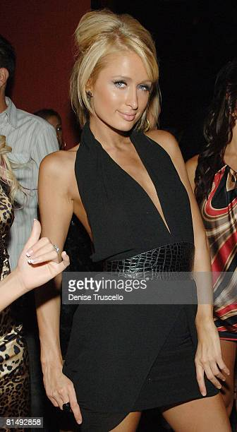 Actress Paris Hilton tapes 'Paris Hiltons My New BFF' at TAO Nightclub at the Venetian Hotel and Casino on June 6 2008 in Las Vegas Nevada