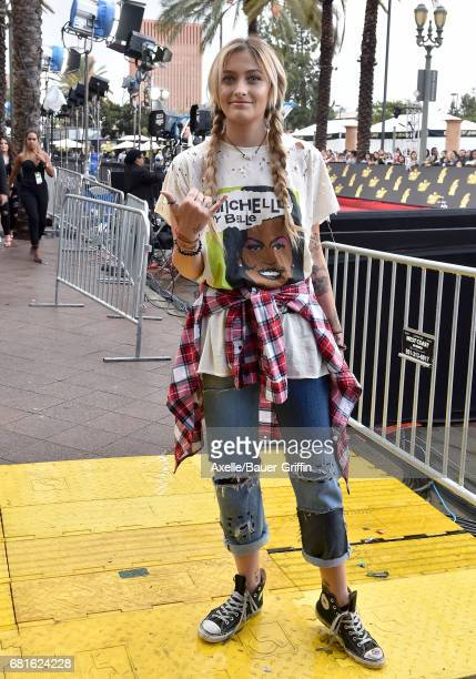 Actress Paris Jackson arrives at the 2017 MTV Movie and TV Awards at The Shrine Auditorium on May 7 2017 in Los Angeles California
