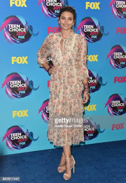 Actress Paris Jackson arrives at the Teen Choice Awards 2017 at Galen Center on August 13 2017 in Los Angeles California