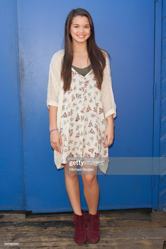 Actress Paris MaryJo Berelc volunteers at the 14th Annual 'Mattel Party On The Pier' Benefiting Mattel Children's Hospital UCLA at Santa Monica Pier on October 6, 2013 in Santa Monica, California.