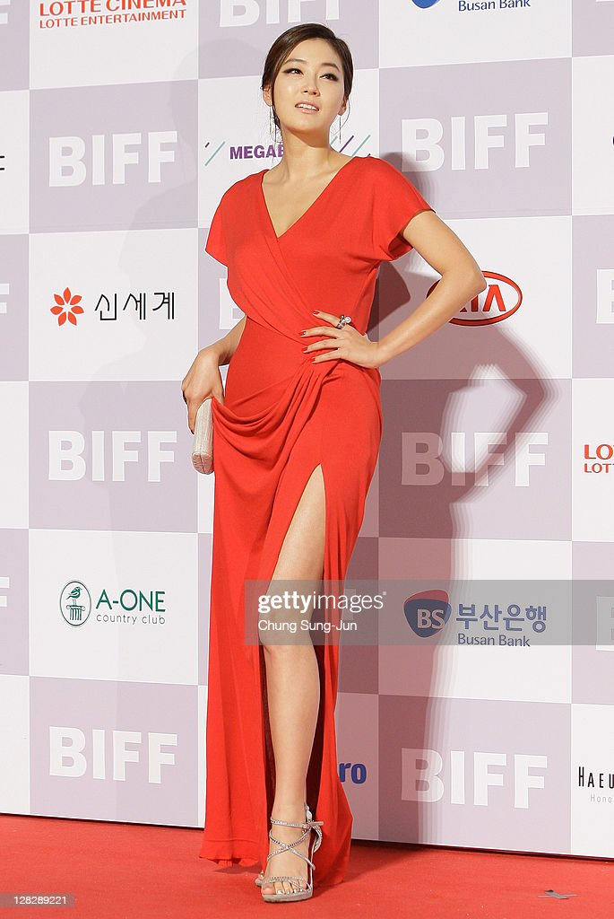 Actress Park Jin-Hee arrives for the opening ceremony of the 16th Busan International Film Festival (BIFF) at the Busan Cinema Center on October 6, 2011 in Busan, South Korea. The biggest film festival in Asia showcases 307 films from 70 countries and runs from October 6-14.