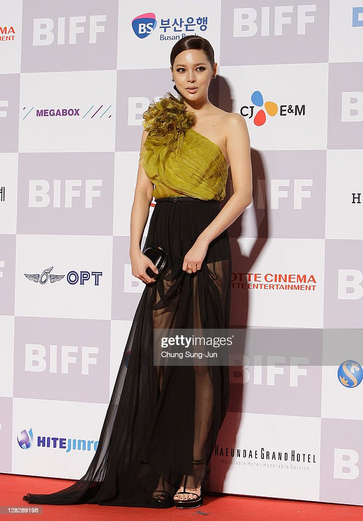 Actress Park Si-Yeon arrives for the opening ceremony of the 16th Busan International Film Festival (BIFF) at the Busan Cinema Center on October 6, 2011 in Busan, South Korea. The biggest film festival in Asia showcases 307 films from 70 countries and runs from October 6-14.