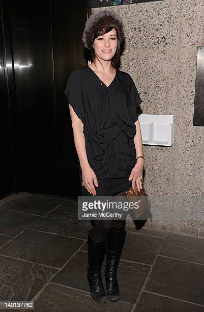 Actress Parker Posey attends Whitney Biennial 2012 opening party at The Whitney Museum of American Art on February 28 2012 in New York City