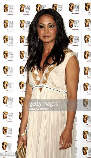 Actress Parminder Nagra poses in the Awards Room at the Pioneer British Academy Television Awards 2006 at the Grosvenor House Hotel on May 7 2006 in...