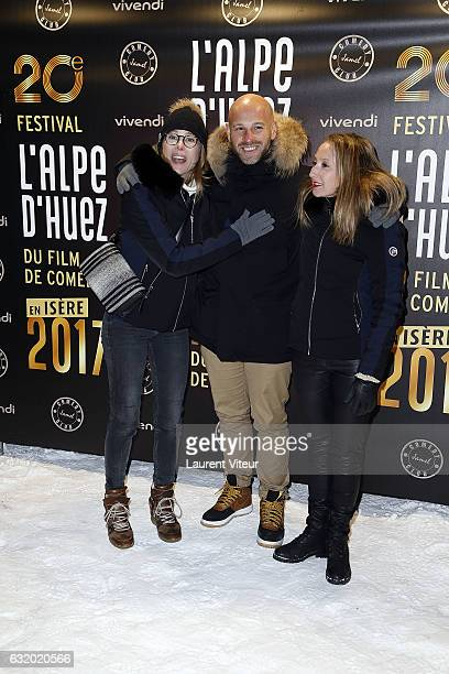 Actress Pascale Arbillot Actor Franck Gastambide and Actress Audrey Lamy attend the Photocall 'Le Jamel Comedy Club prend de l'Altitude' at Le Signal...