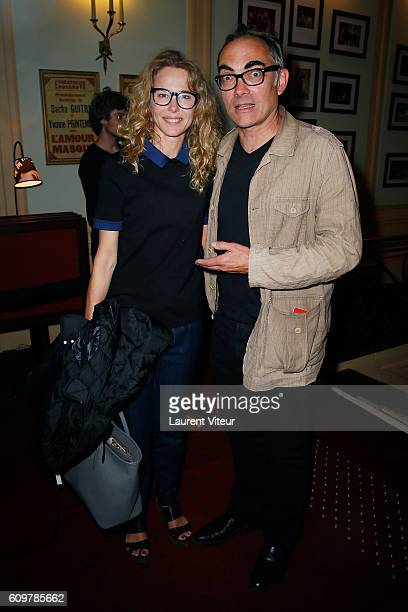 Actress Pascale Arbillot and guest attend 'Couple' Theater Play at Theatre Edouard VII on September 22 2016 in Paris France