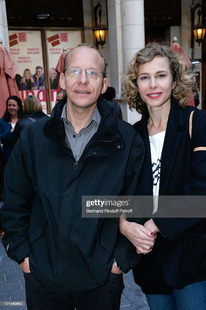 Actress Pascale Arbillot and her brother Eric Arbillot Tardy attend the Ary Abittan performance at Theater Edouard VII benefiting 'Un Coeur Pour La Paix' on June 24, 2013 in Paris, France.