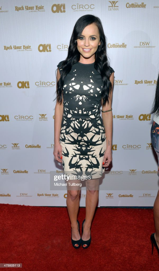 Actress Pascale Wellin attends OK! Magazine's Pre-Oscar Party at Greystone Manor Supperclub on February 27, 2014 in West Hollywood, California.