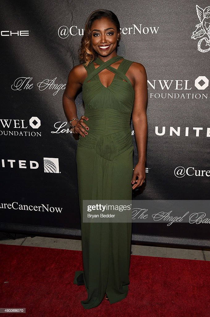 Actress Patina Miller attends Angel Ball 2015 hosted by Gabrielle's Angel Foundation at Cipriani Wall Street on October 19 2015 in New York City