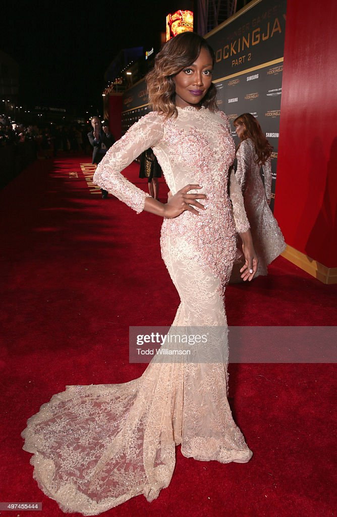 Actress <a gi-track='captionPersonalityLinkClicked' href=/galleries/search?phrase=Patina+Miller&family=editorial&specificpeople=5748190 ng-click='$event.stopPropagation()'>Patina Miller</a> attends premiere of Lionsgate's 'The Hunger Games: Mockingjay - Part 2' at Microsoft Theater on November 16, 2015 in Los Angeles, California.
