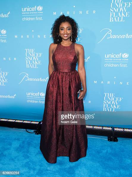Actress Patina Miller attends the 12th Annual UNICEF Snowflake Ball at Cipriani Wall Street on November 29 2016 in New York City
