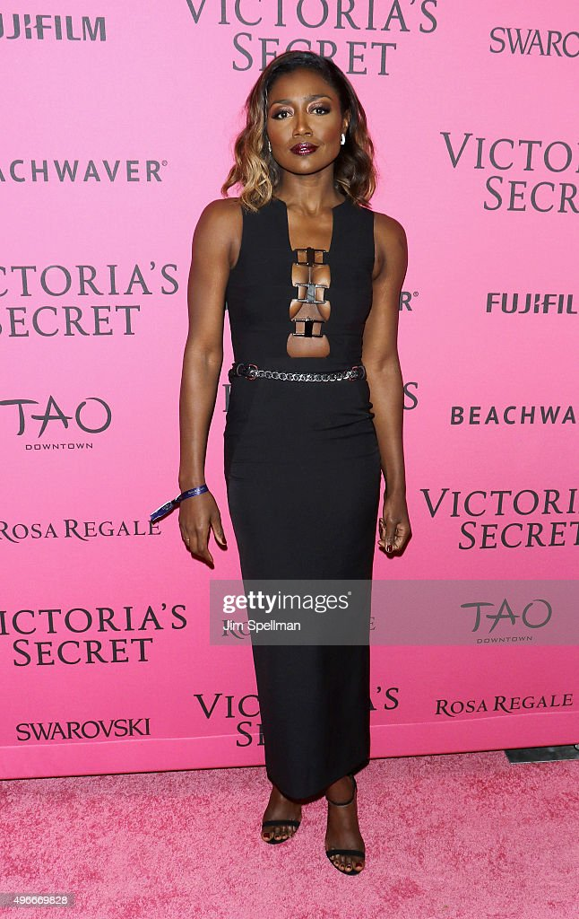 Actress Patina Miller attends the 2015 Victoria's Secret Fashion Show after party at TAO Downtown on November 10 2015 in New York City